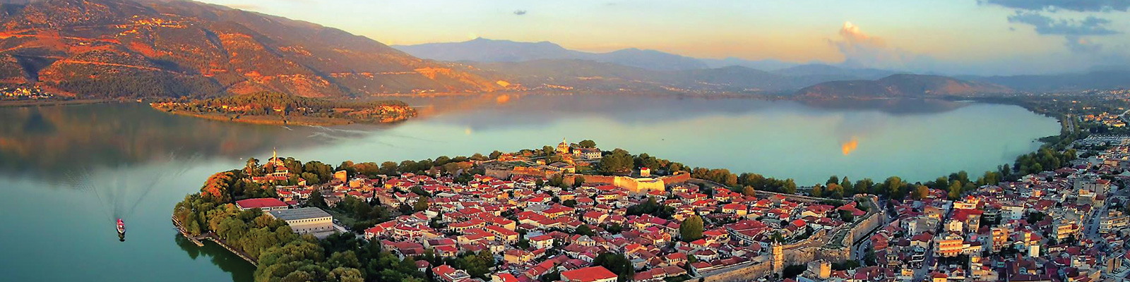Ioannina panoramic view - Ioannina castle & lake pamvotida